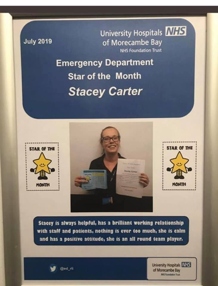 Stacey Carter, Star of the month